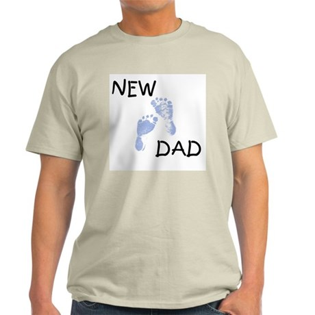 New Dad BLUE Ash Grey T-Shirt