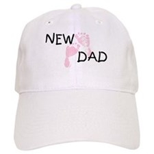 New Dad PINK Baseball Baseball Cap