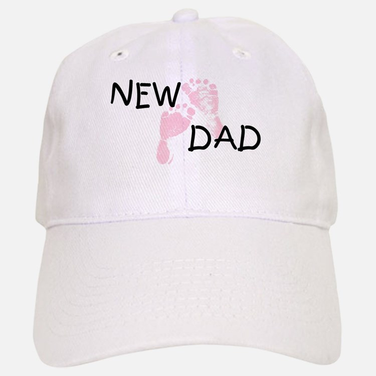 New Dad PINK Baseball Baseball Cap