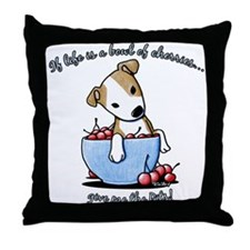 Give Me The Pits Throw Pillow