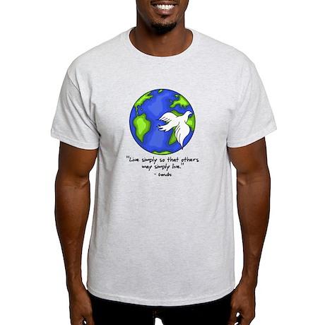 world_gandhi_livesimply T-Shirt