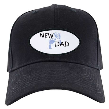 New Dad BLUE Black Cap