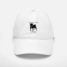 Pug Personalizable Bark For A Baseball Baseball Cap