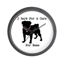 Pug Personalizable Bark For A Wall Clock