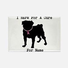 Pug Personalizable Bark For A Rectangle Magnet