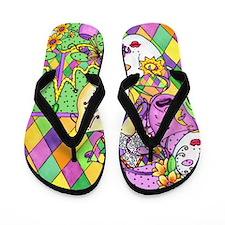 Mardi Gras Masks Flip Flops