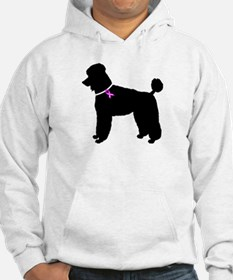 Poodle Breast Cancer Support Hoodie