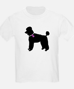 Poodle Breast Cancer Support T-Shirt