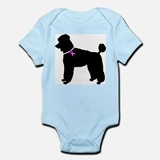 Poodle Breast Cancer Support Infant Bodysuit