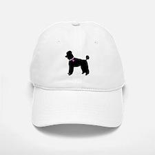 Poodle Breast Cancer Support Baseball Baseball Cap