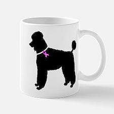 Poodle Breast Cancer Support Mug