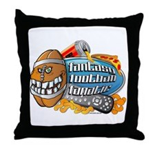 Fantasy Football Fanatic Throw Pillow