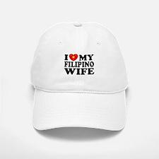 I Love my Filipino Wife Baseball Baseball Cap