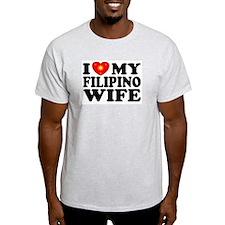 I Love my Filipino Wife Ash Grey T-Shirt