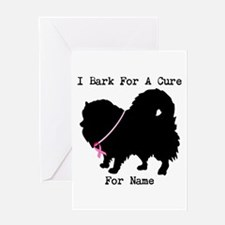 Pomeranian Personalizable I Bark For A Cure Greeti
