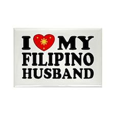 I Love my Filipino Husband Rectangle Magnet