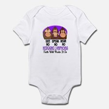 See Speak Hear No H Lymphoma 1 Infant Bodysuit