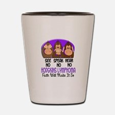 See Speak Hear No H Lymphoma 1 Shot Glass