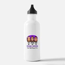 See Speak Hear No H Lymphoma 1 Water Bottle