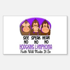 See Speak Hear No H Lymphoma 1 Decal