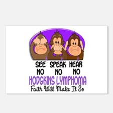 See Speak Hear No H Lymphoma 1 Postcards (Package
