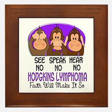 See Speak Hear No H Lymphoma 1 Framed Tile