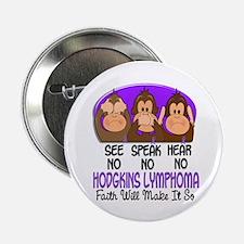 "See Speak Hear No H Lymphoma 1 2.25"" Button (10 pa"
