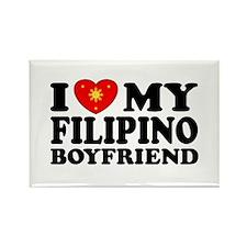 I Love my Filipino Boyfriend Rectangle Magnet