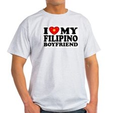 I Love my Filipino Boyfriend Ash Grey T-Shirt