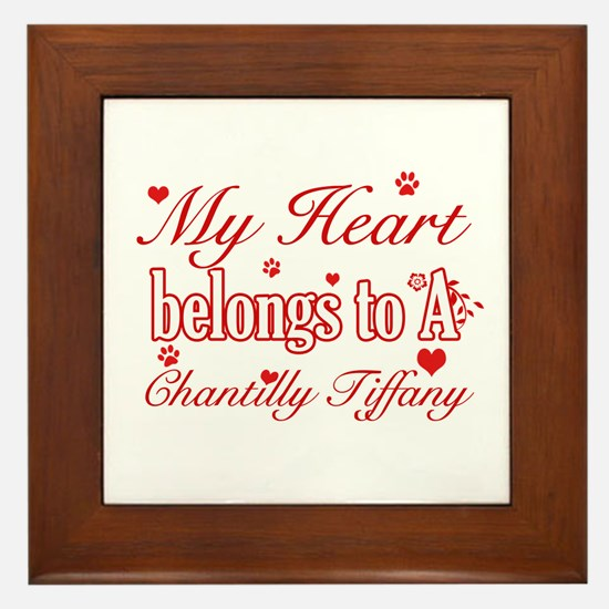 Cool Chantilly Tiffany Cat breed designs Framed Ti