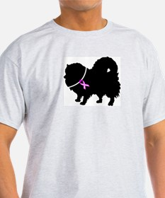 Pomeranian Breast Cancer Supp T-Shirt
