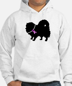Pomeranian Breast Cancer Supp Hoodie