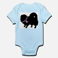 Pomeranian Breast Cancer Supp Infant Bodysuit