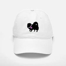 Pomeranian Breast Cancer Supp Baseball Baseball Cap