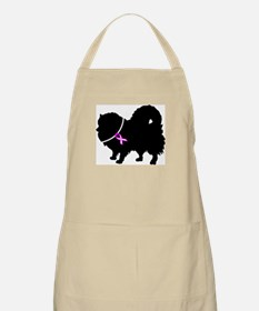 Pomeranian Breast Cancer Supp Apron