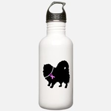 Pomeranian Breast Cancer Supp Water Bottle
