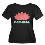Namaste Lotus Women's Plus Size Scoop Neck Dark T-