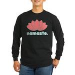 Namaste Lotus Long Sleeve Dark T-Shirt