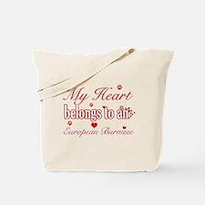 Cool European Burmese Cat breed designs Tote Bag