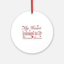 Cool Havana Brown Cat breed designs Ornament (Roun