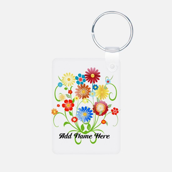 Personalized floral light Keychains