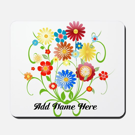 Personalized floral light Mousepad