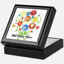 Personalized floral light Keepsake Box