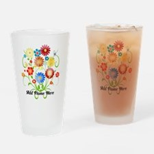 Personalized floral light Drinking Glass
