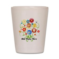 Personalized floral light Shot Glass