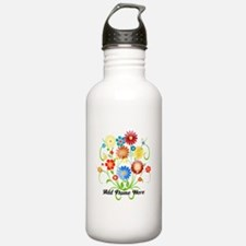 Personalized floral light Water Bottle