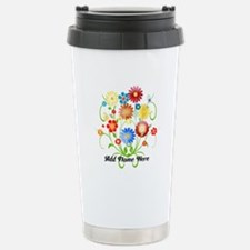 Personalized floral light Travel Mug