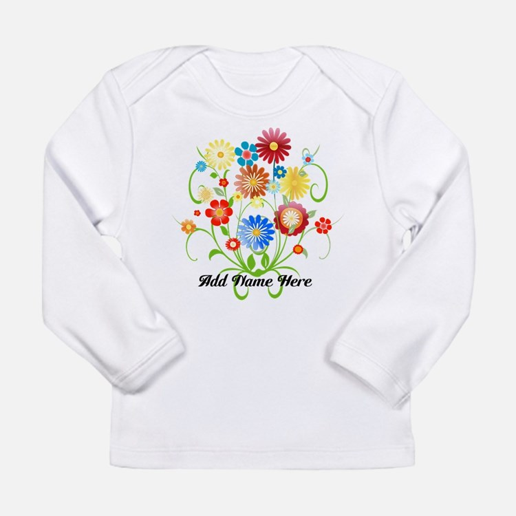 Personalized floral light Long Sleeve Infant T-Shi