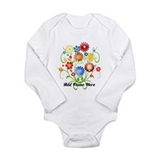 Personalized floral light Long Sleeve Infant Bodys