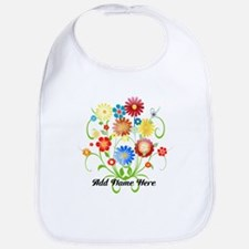Personalized floral light Bib